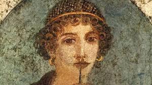 Rostro de Safo de Lesbos