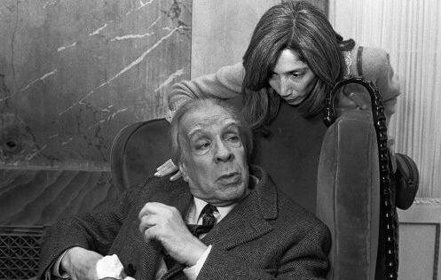Jorge Luis Borges con su mujer