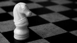 pieza de ajedrez simbolizando el síndrome del caballero blanco