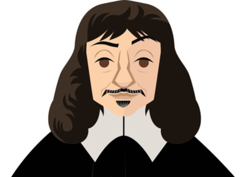 Ilustración de René Descartes