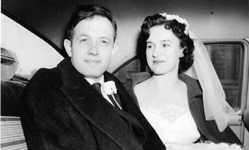 John Forbes Nash con su mujer