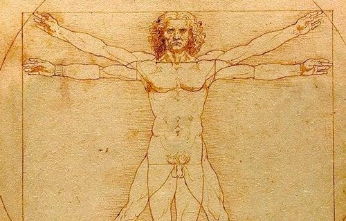 hombre de Vitrulbio de Leonardo Da Vinci