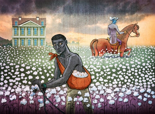 Sultán con un caballo y esclavo