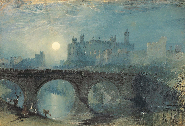 Castillo y puente como obra de JMW Turner