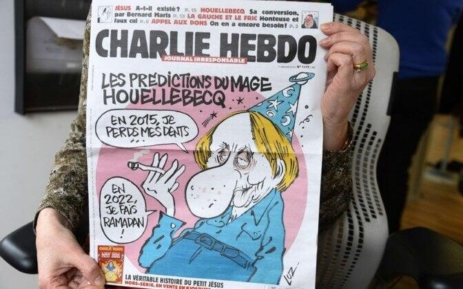 Michel Houellebecq en la portada de Charlie Hebdo