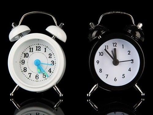 """imagen representando los dos """"relojes"""" cerebrales"""