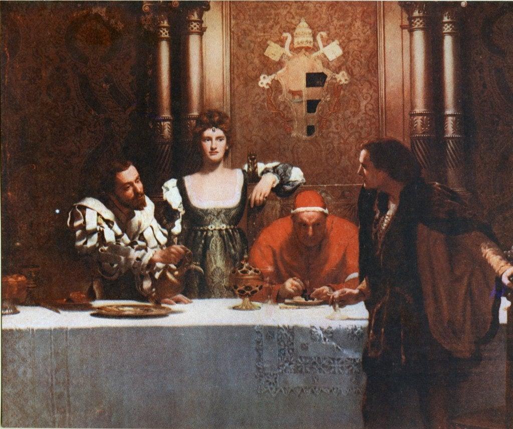 Cuadro de César Borgia del pintor John Collier