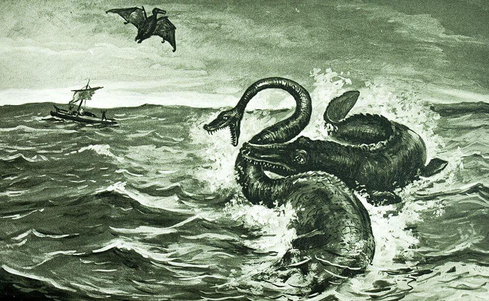 Fantasía en el mar con un monstruo