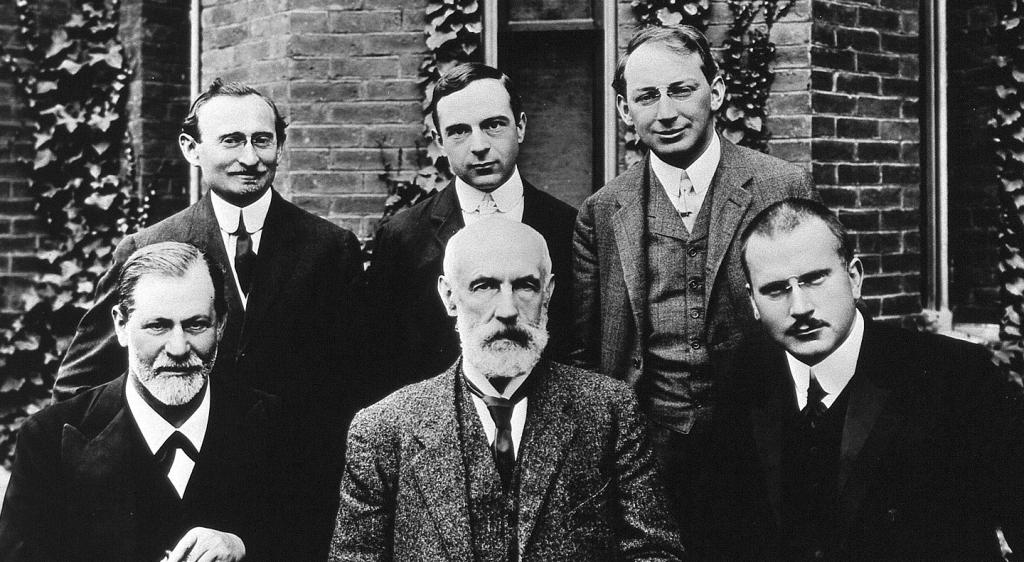 Freud y Jung con sus compañeros psicoanalíticos