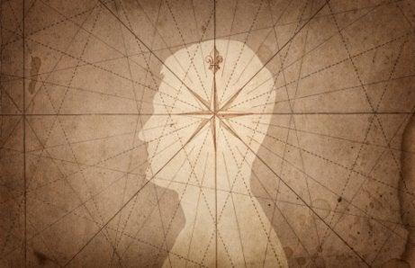 Hombre con una estrella en la mente para representar la neurobiología de la sensibilidad moral