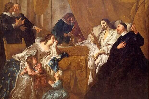 La muerte de Luis XIII