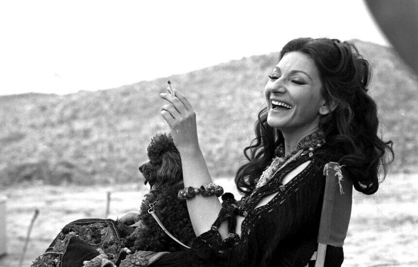 María Callas sonriendo