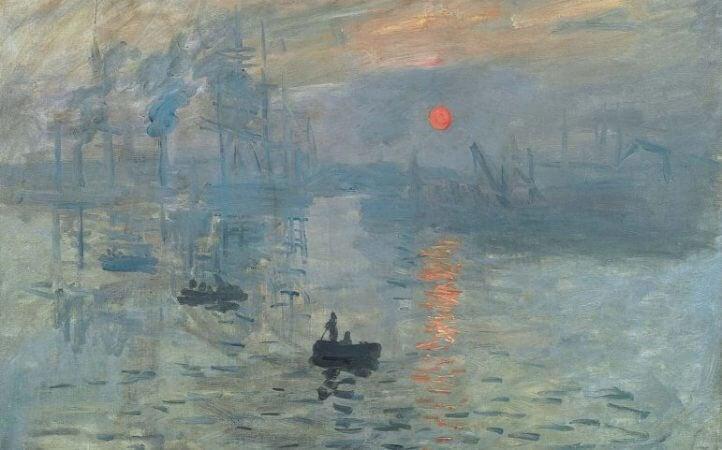 Cuadro de Monet titulado Impresión del sol naciente