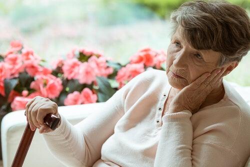 Residencia de la tercera edad y la soledad