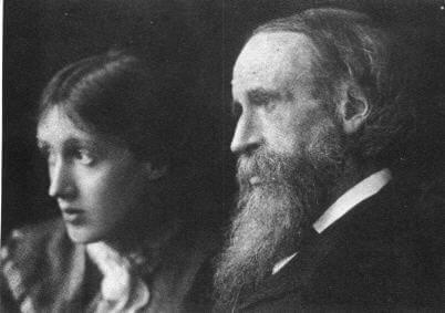 Virginia Woolf con su padre