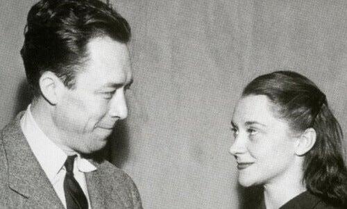 Camus y María Casar