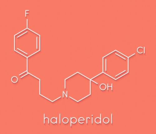 Fórmula química del haloperidol