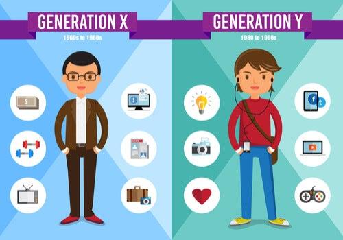 Generación X y generación Y