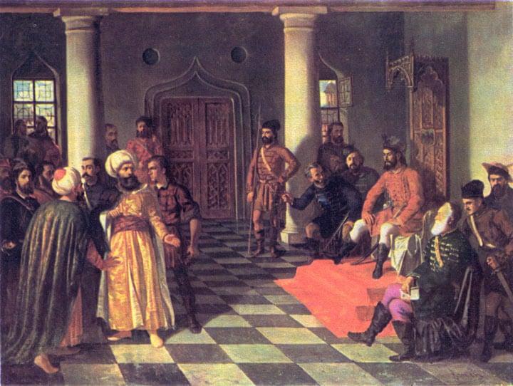 Vlad Tepes y los enviados turcos de Theodor Aman