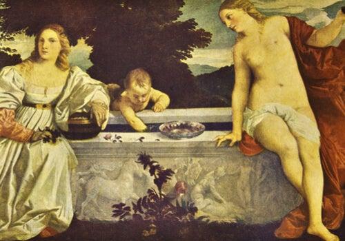Amor sacro y amor profano de Tiziano