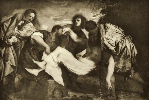 Apóstoles con Jesucristo, obra de Tiziano