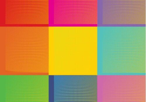 Cuadros de colores con estilo pop art