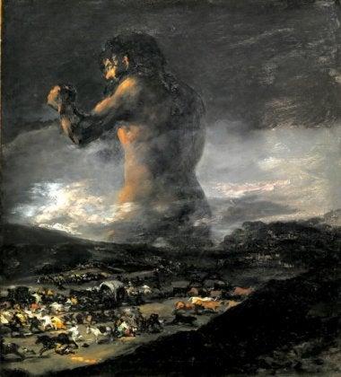 Francisco de Goya, El Coloso, obra que pudo haber sido hecha bajo el El síndrome de Susac