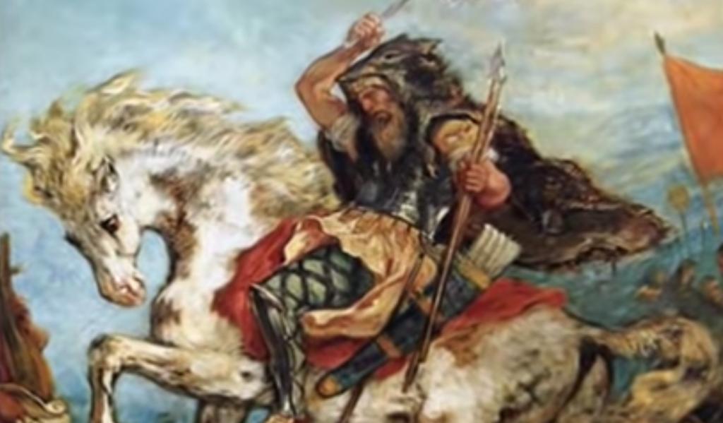 Guerrero en un caballo