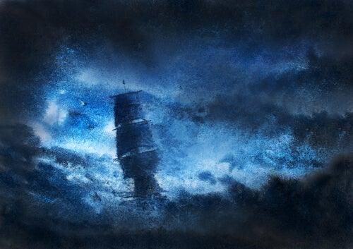 Barco entre tinieblas