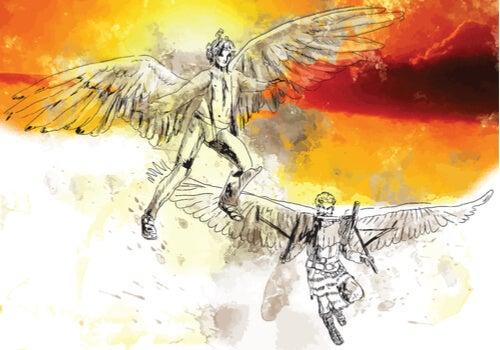 Ícaro con alas
