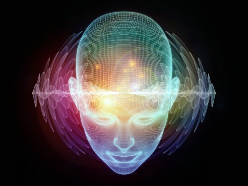 Luz verde en la mente de una persona representando la flexibilidad cognitiva
