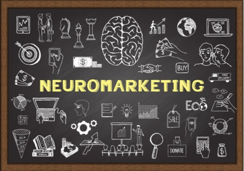 Palabra neuromarketing en una pizarra