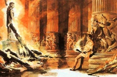 lienzo que representa el complejo de Eróstrato