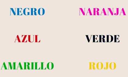 Test de Stroop, una prueba psicológica basada en el color