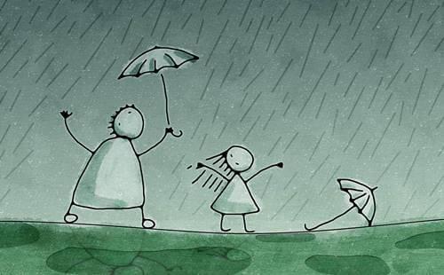 test 'Persona bajo la lluvia'