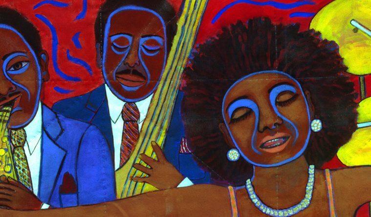 Pintura de tres personas