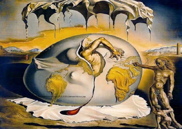 Niño geopolítico de Dalí