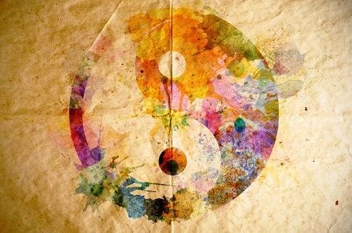Pintura del yin yang