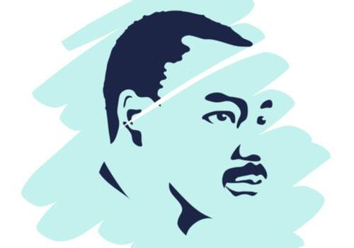 Dibujo de Luther King