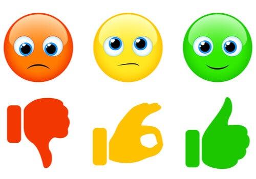 Emoticonos con los colores del semáforo