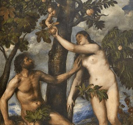 Adán y Eva de Tiziano