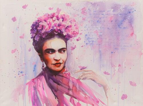 Dibujo representando las lecciones de Frida Kahlo para la superación personal