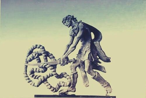 Alejandro Magno y el nudo gordiano