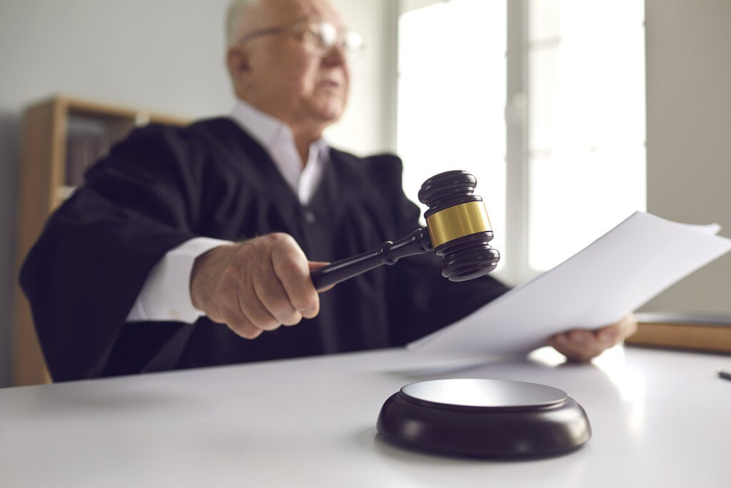 Juiz dando seu parecer