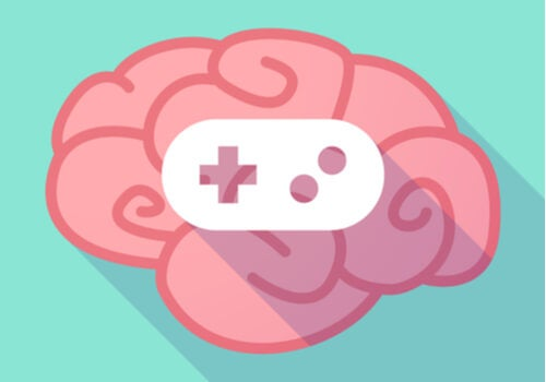 Cerebro con un mando de videojuegos