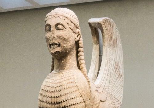 Escultura de la esfinde