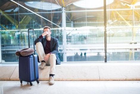 Hombre aeropuerto