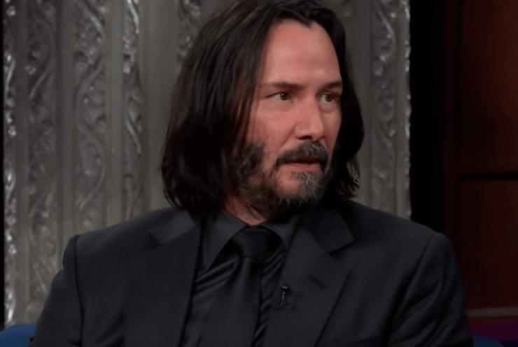 Keanu Reeves en una entrevista