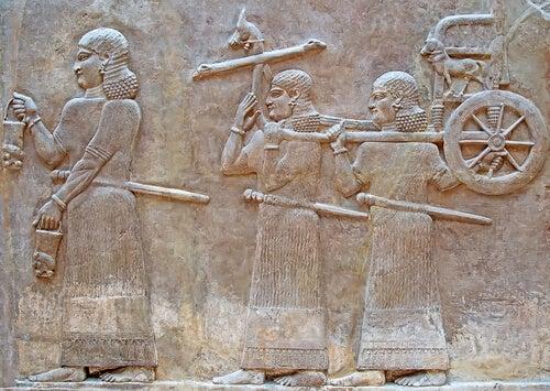 Mural de sumerios