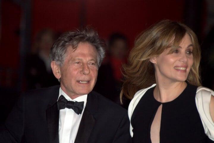 Roman Polanski con su mujer Emmanuelle Seigner